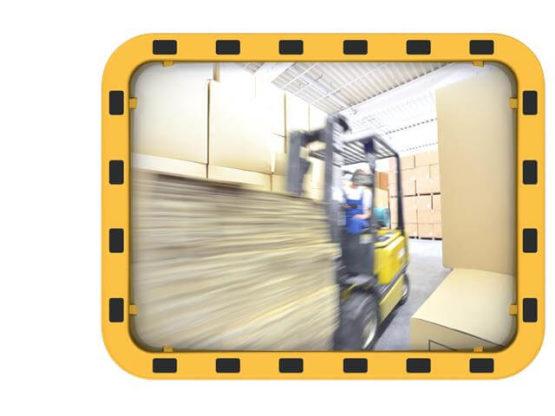 Lustro przemysłowe EUvex prostokątne akrylowe