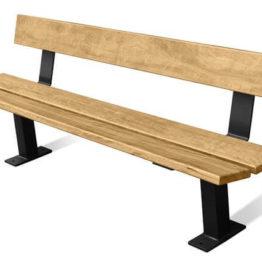 Ławka drewniana z oparciem 2 m PAGODA