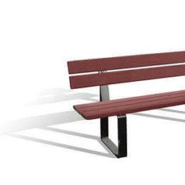 ławka drewniana z oparciem RYGA