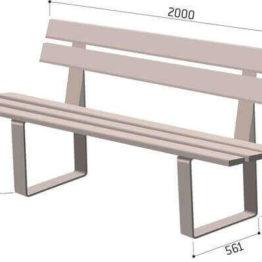 ławka drewniana z oparciem wymiary RYGA