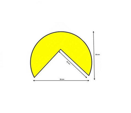 Profil ostrzegawczy żółto czarny typ A wymiary