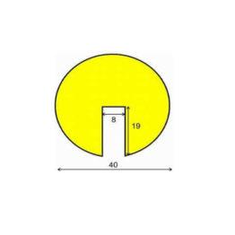Profil ostrzegawczy żółto-czarny typ B wymiary