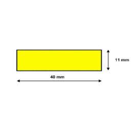Profil ostrzegawczy żółto czarny typ F wymiary