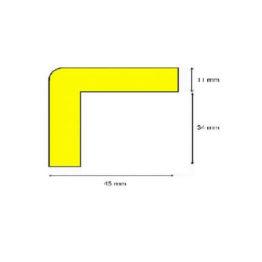 Profil ostrzegawczy żółto czarny typ H wymiary