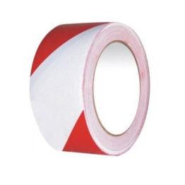 taśma ostrzegawcza samoprzylepna 25 mm x 33 mb biało czerwona