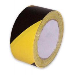 taśma ostrzegawcza samoprzylepna 25 mm x 33 mb żółto czarna