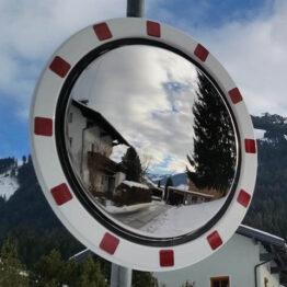 Lustro drogowe ze stali nierdzewnej okrągłe